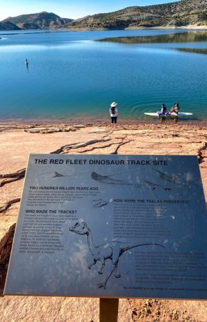 Red Fleet Dinosaur Track Site Trail Sign